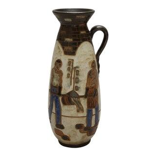 Tall Mid-Century Dubois of Belgium Jug Style Vase For Sale