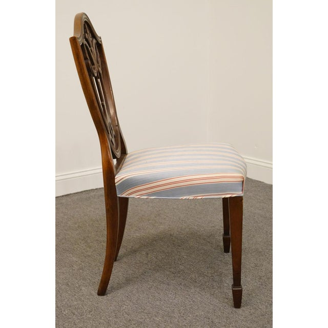 1940s 1940s Vintage Duncan Phyfe Shield Back Dining / Side Chair For Sale - Image 5 of 6