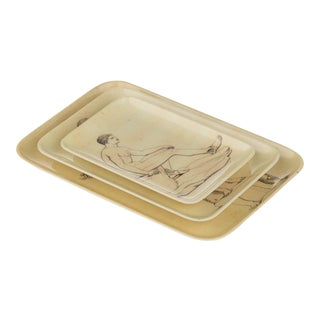 Sculptura Tray Set - 3 Pieces For Sale
