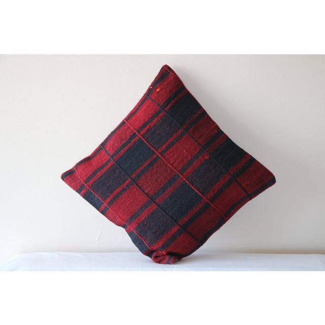 Red Turkish Kilim Pillow For Sale - Image 5 of 5