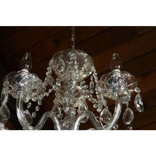 Vintage Glass Estate Chandelier - Image 5 of 5