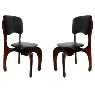Pair of Don Shoemaker Cocobolo Chairs For Sale