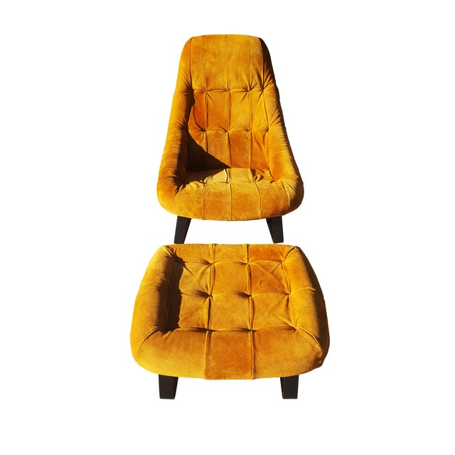 Brown Mid-Century Modern Percival Lafer Brazilian Space Age Earth Lounge Chair and Ottoman For Sale - Image 8 of 9