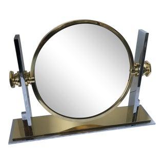 1960s Vintage Karl Springer Vanity Mirror For Sale