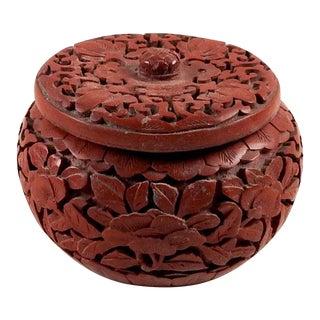 Small Lacquer Cinnabar Trinket Box