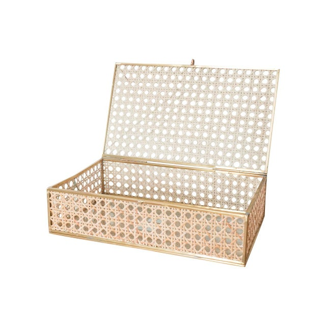 Store your jewelry and accessories in the Anaya Natural Cane Wicker Decor Box. This sophisticated decor box provides ample...