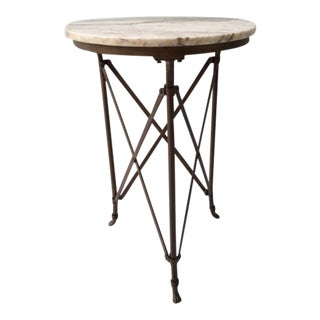 French Directoire Gueridon Table With Marble Top For Sale