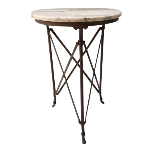 French Directoire Gueridon Table With Marble Top - Image 1 of 9
