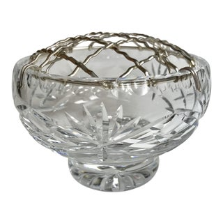 Thomas Webb England Crystal Rose Bowl With Frog For Sale