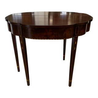 American Classical Henkel Harris Inlaid Mahogany Game Table For Sale