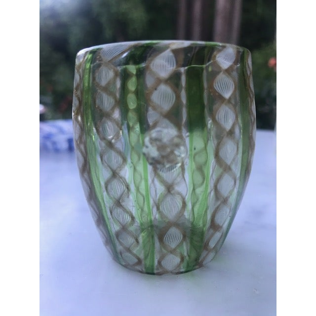Victorian 19th Century Victorian Venetian Art Glass Small Vase For Sale - Image 3 of 13