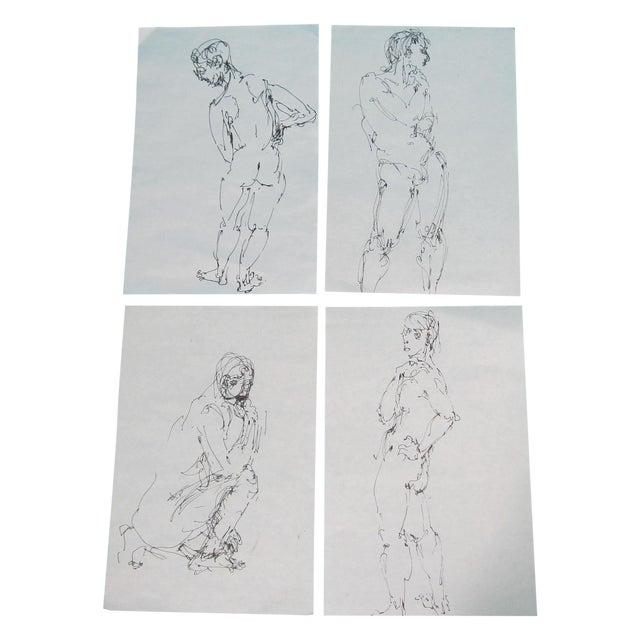 Male Nude Studies - Set of 4 - Image 1 of 6
