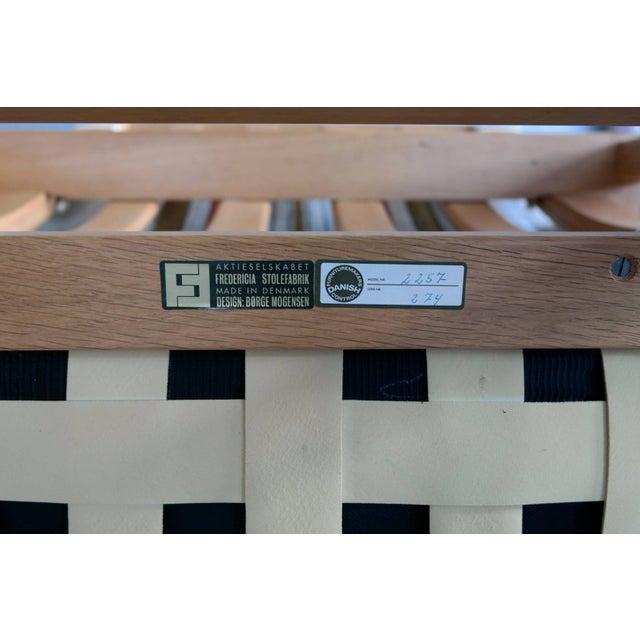 Tan Pair of Børge Mogensen Model 2257, Oak Lounge Chair for Fredericia Stolefabrik For Sale - Image 8 of 10