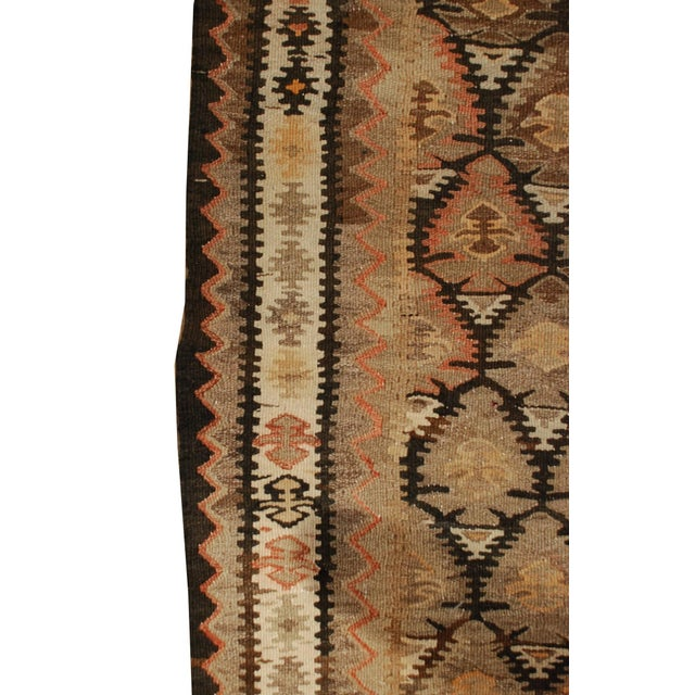 Early 20th Century Qazvin Kilim Runner - 3′10″ × 11′4″ For Sale - Image 4 of 5