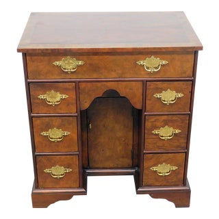 Baker Federal Style Inlaid Seven Drawer Desk For Sale