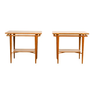 1950s Mid-Century Modern Side Tables by t.h. Robsjohn-Gibbings for Widdicomb - a Pair For Sale
