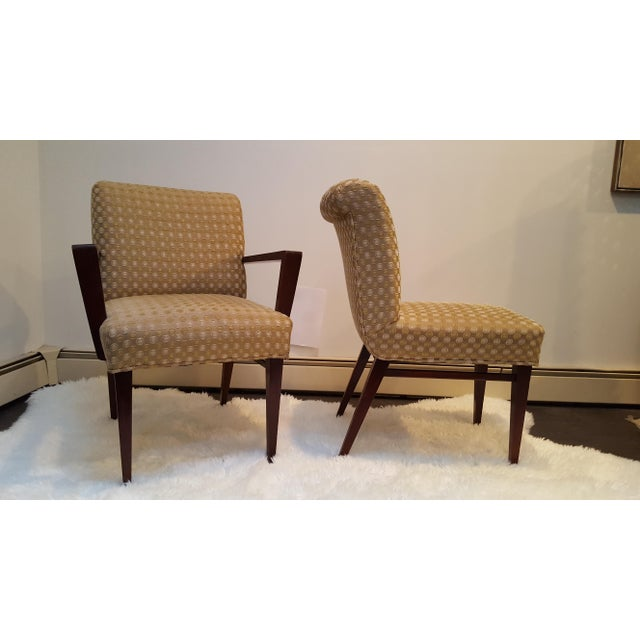 Mid-Century Upholstered Dining Chairs - Set of 6 - Image 3 of 10