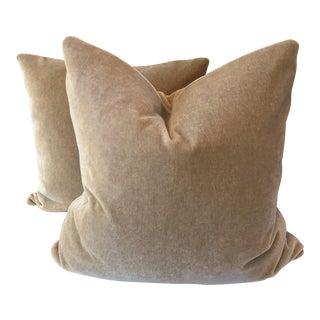 """Fawn Mohair 22"""" Pillows - A Pair"""