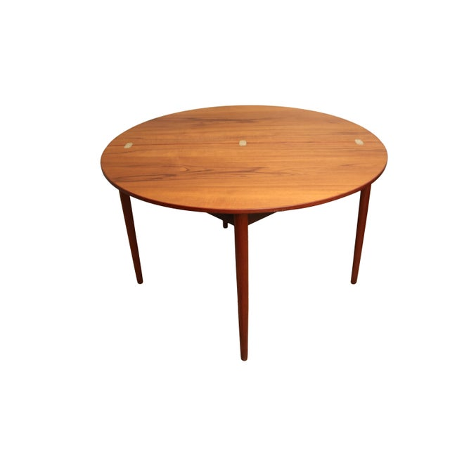 Mid-Century Teak Folding Dining Set - Image 3 of 7