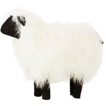 Medium Lalanne Style Tibetan Lamb Sheep in White For Sale