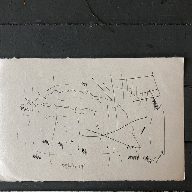 Gallery Wall Collection Original 1960's Robert Cooke Abstract Ink Drawings - Set of 4 For Sale In Philadelphia - Image 6 of 10