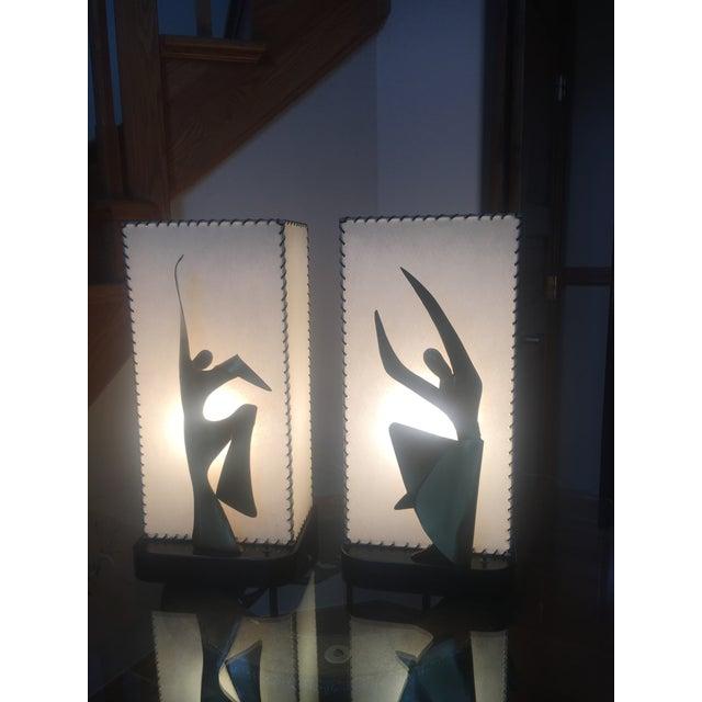 Mid-Century Modern Heifetz Lamps - a Pair - Image 10 of 10