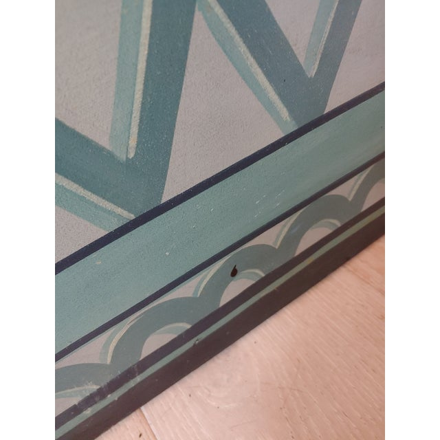 Traditional Vintage 1980s Maitland Smith 3 Panel Screen For Sale - Image 3 of 5