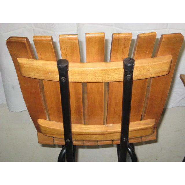 Wood Mid-Century Arthur Umanoff Bar Stools - Set of 6 For Sale - Image 7 of 8