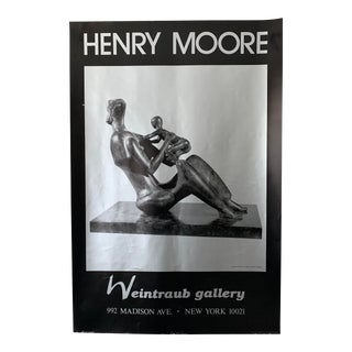 Henry Moore Sculpture Nyc Gallery Exhibition Unframed Poster For Sale