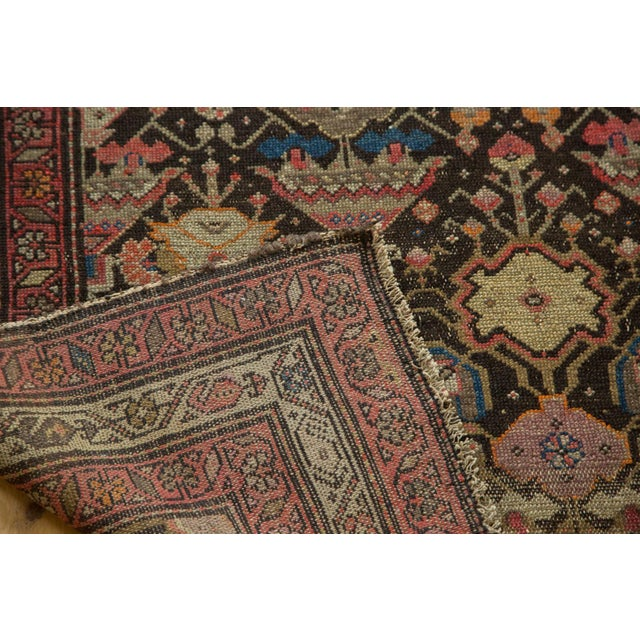"Orange Antique Malayer Rug - 3'7"" x 6'6"" For Sale - Image 8 of 10"