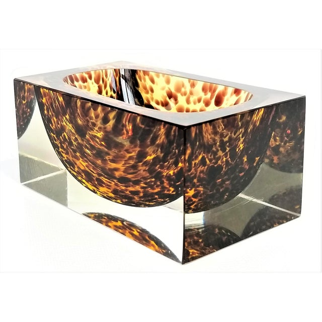 Exquisite Murano Glass Tortoiseshell Bowl by Alessandro Mandruzzato For Sale - Image 13 of 13