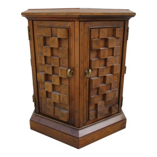 Drexel Mid-Century Modern Brutalist Style Side Table For Sale
