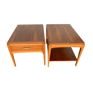 Altavista Lane Mid Century Modern Walnut End Tables - Set of 2 For Sale