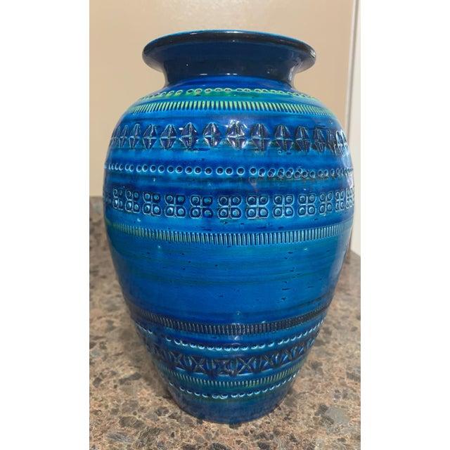 Bitossi Rimini Royal Blue Vase For Sale - Image 9 of 9