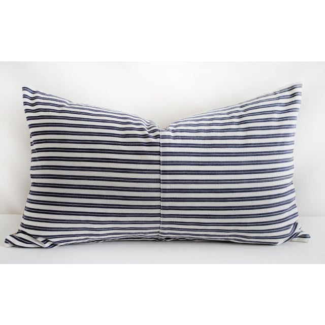 Vintage Navy Blue and White French Ticking Stripe Lumbar Pillow SKU Number: 3172-04380 Description: Vintage Navy Blue and...