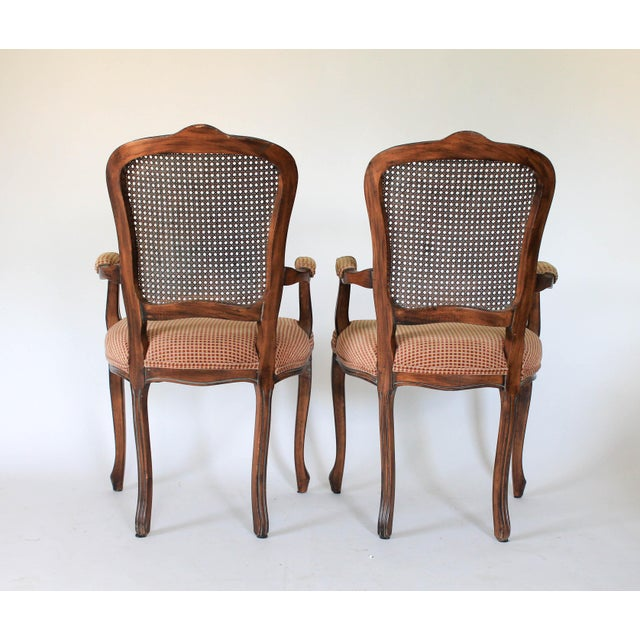 Caned Fauteuils, a Pair For Sale - Image 4 of 10