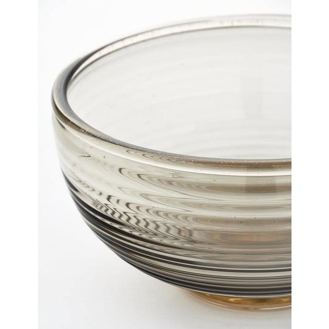 Gray Contemporary Gray and Avventurina Murano Glass Bowl For Sale - Image 8 of 11