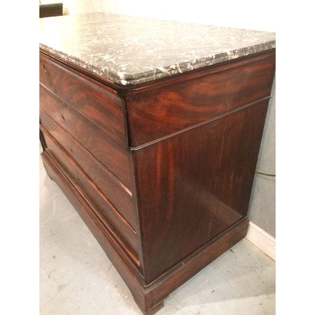 Louis Philippe Three Drawer Desk Commode For Sale - Image 9 of 11