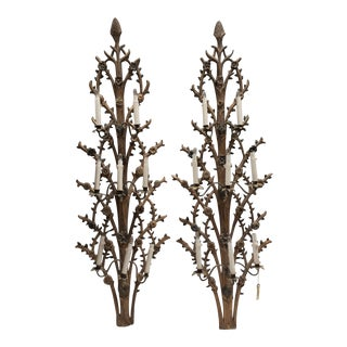 Gothic Style Antique Sconces - A Pair For Sale