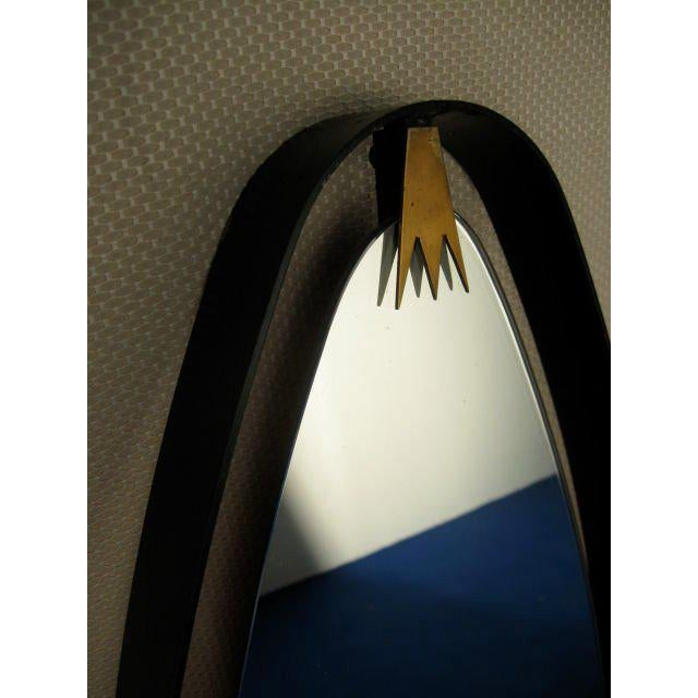 Rare Pair of Italian Oval Mirrors For Sale In Los Angeles - Image 6 of 7
