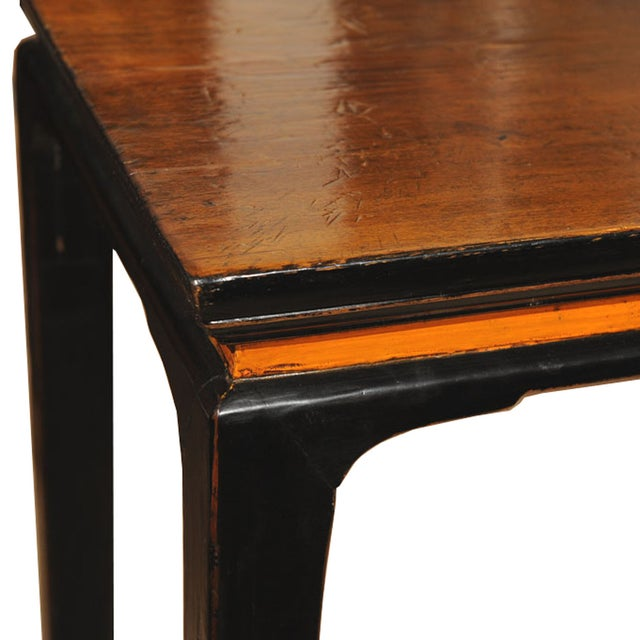 Traditional Walnut Console Table For Sale - Image 3 of 4