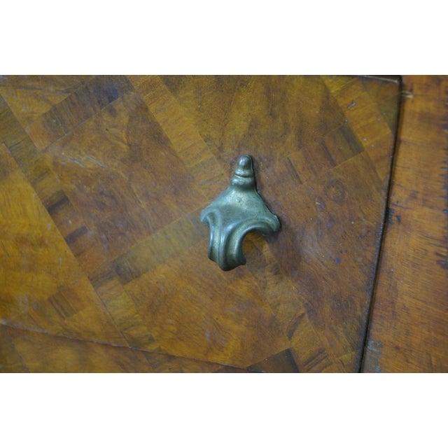 Vintage Italian Rococo Walnut Bombe Chest - Image 7 of 10