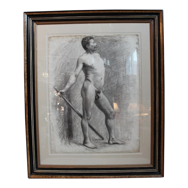 George Rabb Male Nude Drawing For Sale