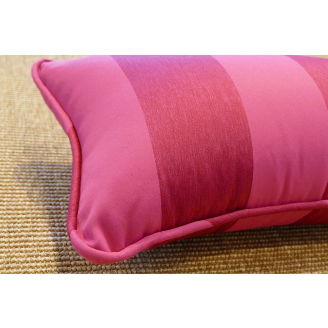 2010s Contemporary Osborne & Little Striped Lumbar Pink Pillow For Sale - Image 5 of 6