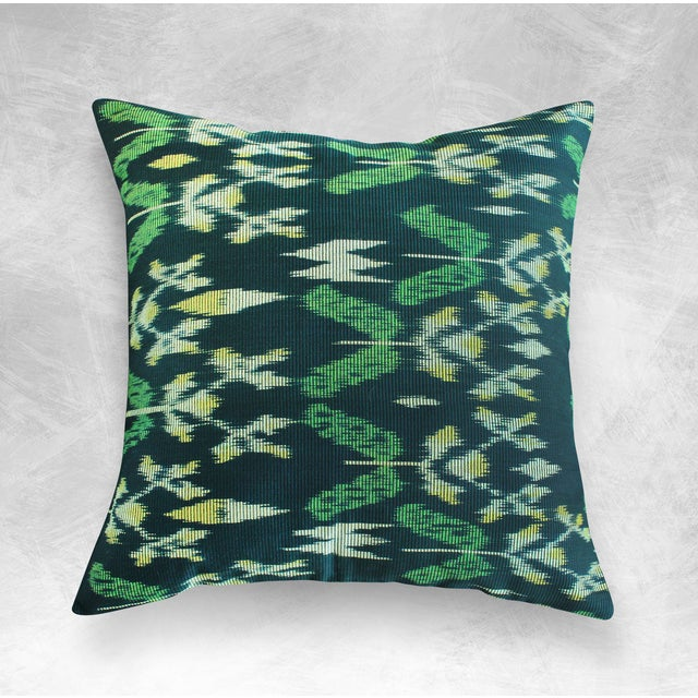 "Handwoven ""Java Banana Leaves"" Ikat Pillow Case - Image 3 of 3"