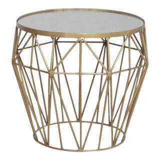 Sarreid Brass and Glass Side Table For Sale