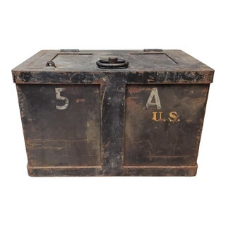 1940 Herring-Hall-Marvin Co. u.s. Army Railroad Safe Strong Box For Sale
