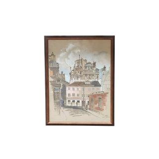 1961 Paris Street Scene by James Seeman For Sale
