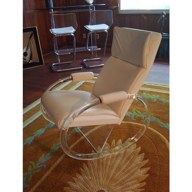 Charles Hollis Jones Vintage Lucite Rocking Chair - Image 4 of 8