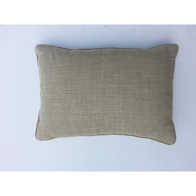 French metallic embroidered pillow - Image 3 of 3